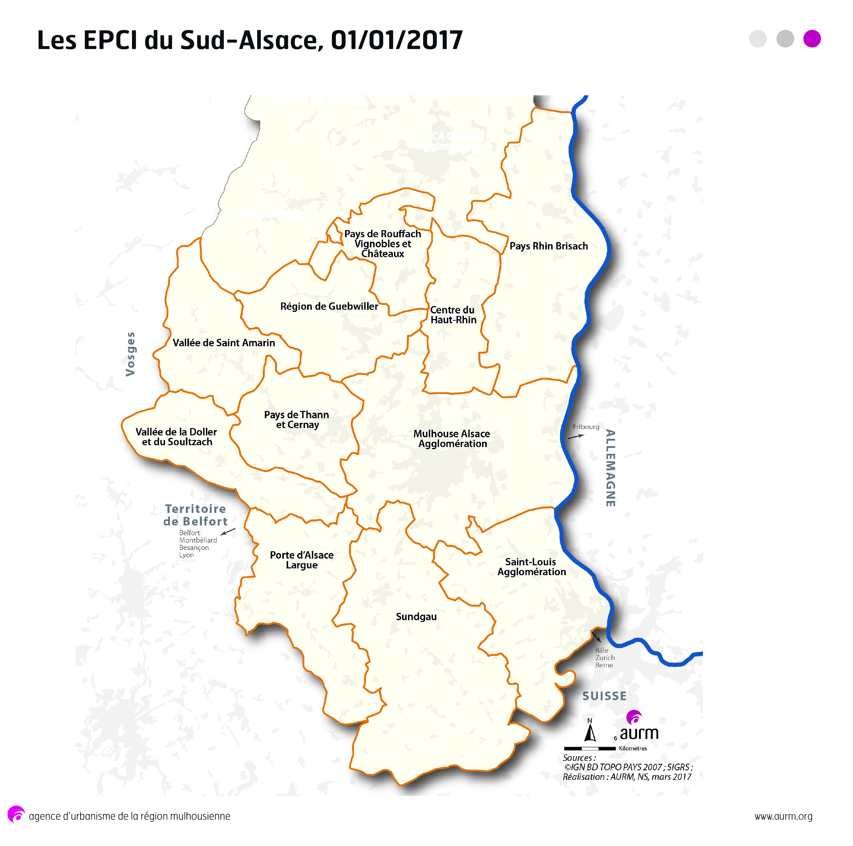 Carte Alsace Sud.Document De L Aurm Epci Sud Alsace